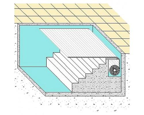 Ролетное накрытие для бассейна подводная Protect 6х3м